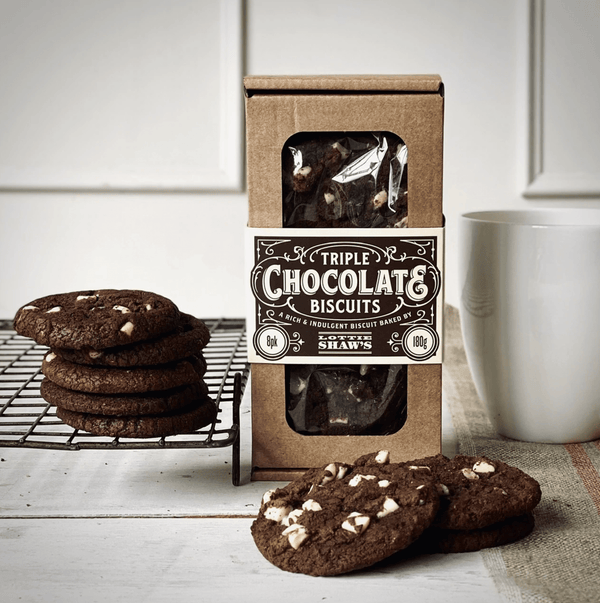 Triple Chocolate Biscuit Box 180g - Best British Produce