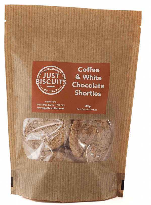 Coffee and White Chocolate Shorties 200g.