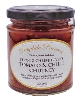 Raydale Preserves Strong Cheese Lover's Tomato and Chilli Chutney 220g