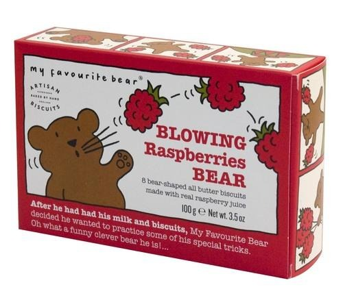 Blowing Raspberries Bear Biscuits (100g) - Best British Produce
