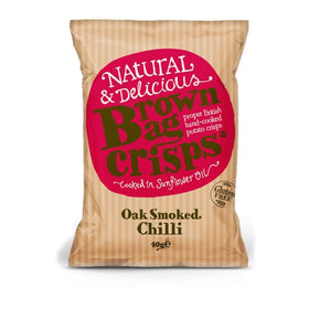 Oak Smoked Chilli Crisps 40g Brown Bag Crisps