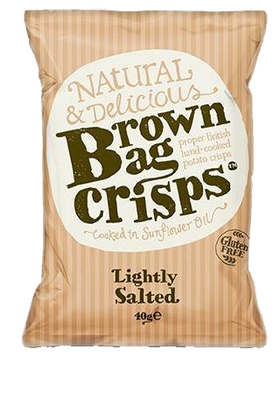 Lightly Salted Crisps 40g Brown Bag Crisps