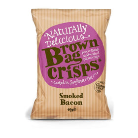 Smoked Bacon Crisps 40g Brown Bag Crisps
