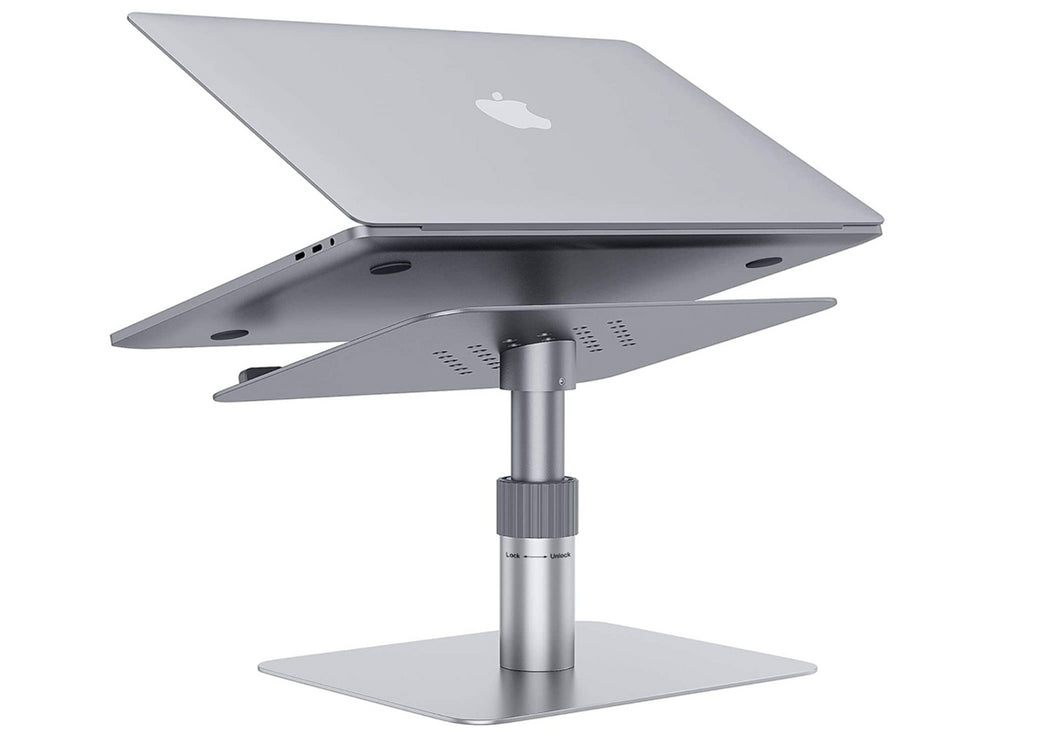 Gikersy Adjustable Aluminum Laptop Stand 360 Rotating
