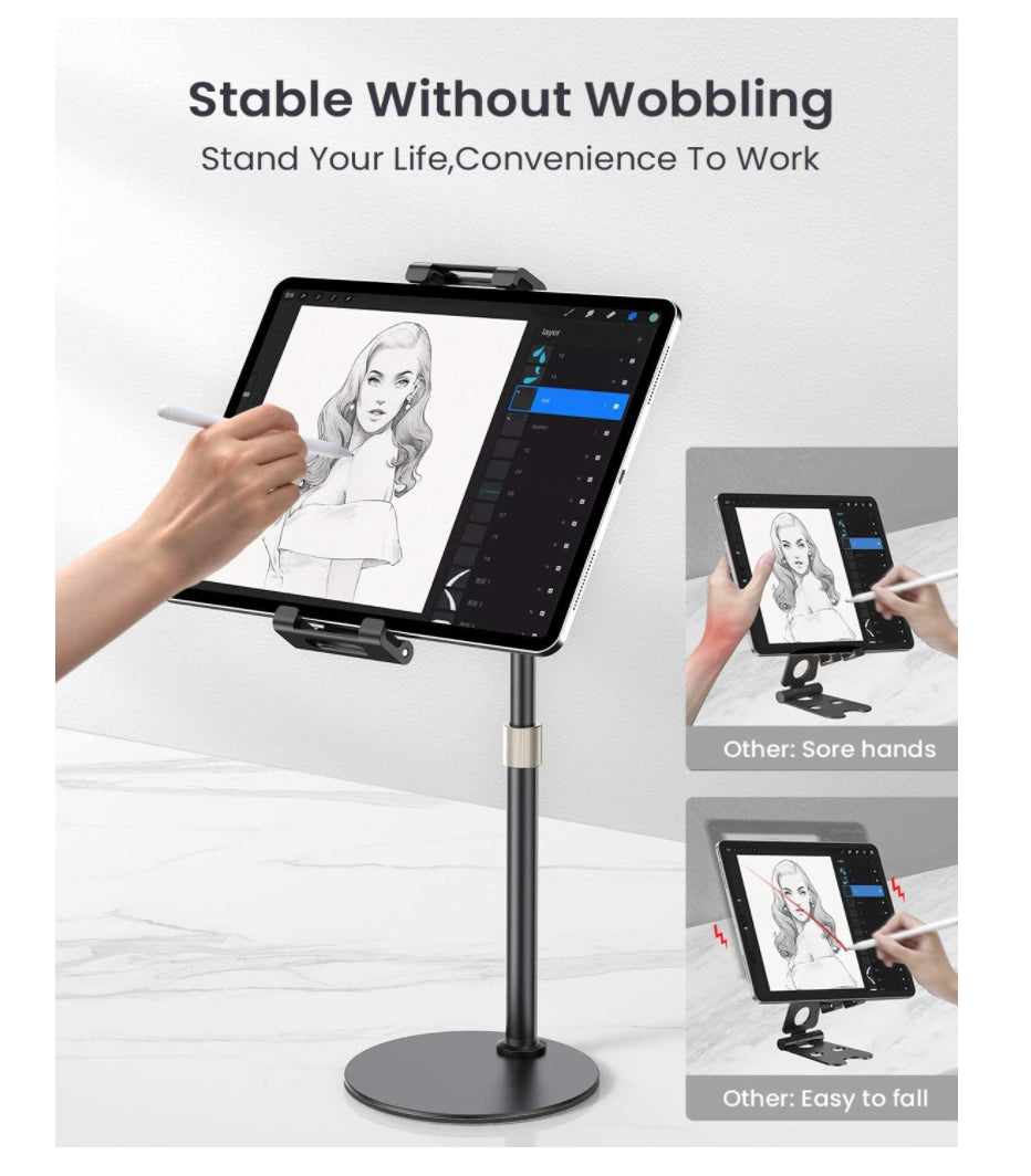 LISEN Tablet Luxury Adjustable Tall Stand Holder