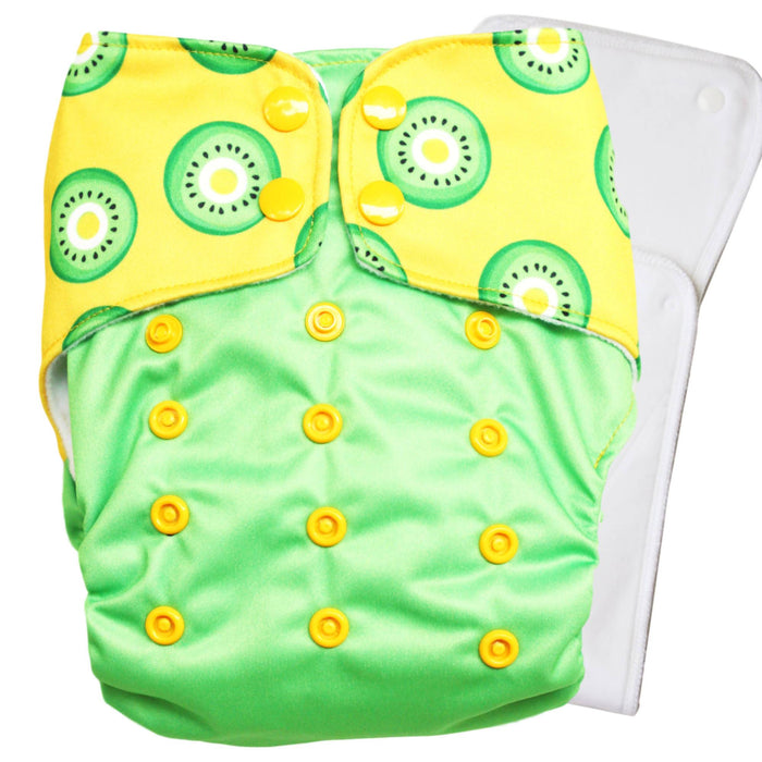 Kawaii Kiwi with Organic Cotton Insert - PeachPERFECT V1.0 Cloth Diaper