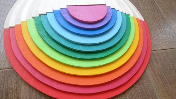 12 Piece Rainbow Semicircles