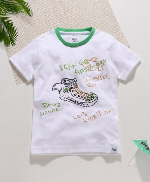 Royal Brats T-shirts White Base With Shoe Printed Top