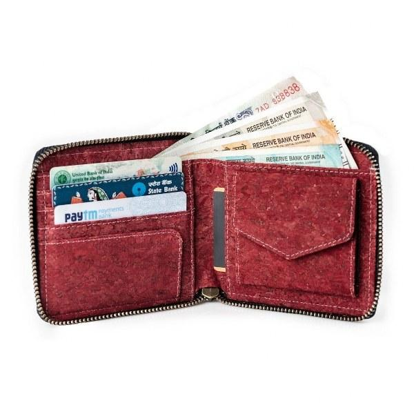 Kiwi Zip Wallet – Wine Red
