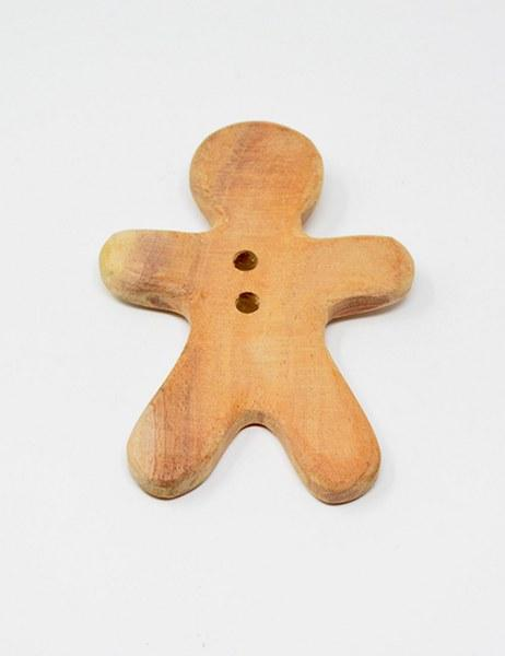 Ariro Neem Wood Teether Gingerbread Man