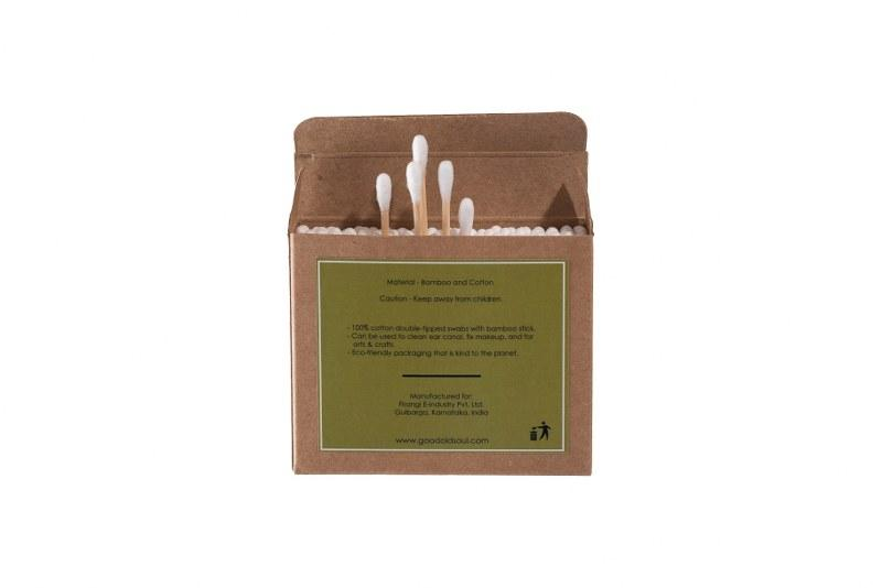 Bamboo Cotton Swabs/ Buds - 200 Swabs - Pack of 2