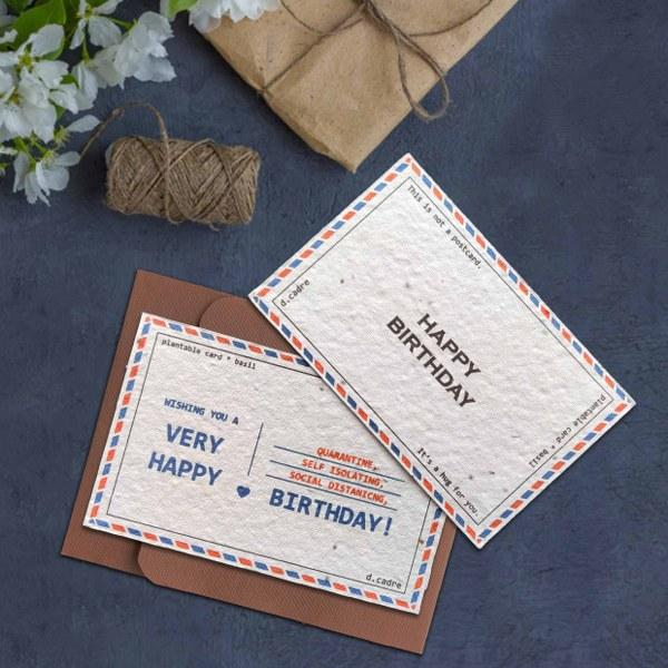 Plantable Happy Birthday Cards (Pack of 2)