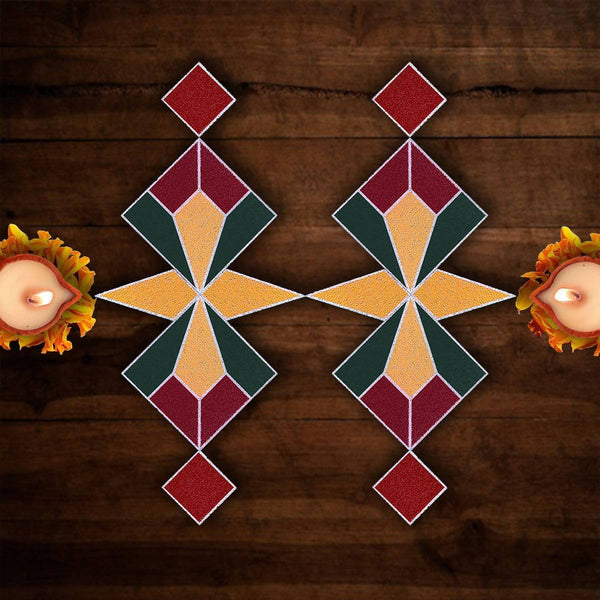 Rangoli Puzzle_The Squared (Pack of 12 pieces)