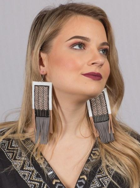 CHEVY SQUARE EARRINGS