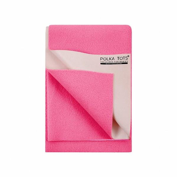 Baby Mat Bed Protector Waterproof Sheet Reusable Absorbent Dry Sheet (Pink, Large, 100 x 140 cm)