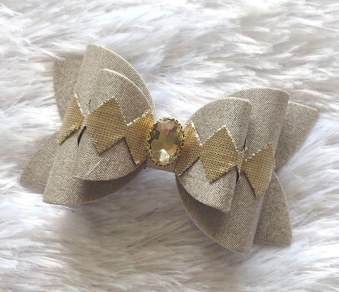 Diamond Bow Grey