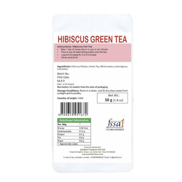 Hibiscus Green Tea - 50g