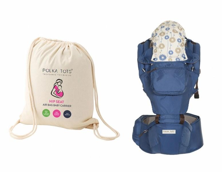 Ergonomic Baby Hip Seat 6 in 1 Baby Carrier with Airbag Seat Highly Suitable for C Section Mothers, with Trendy Carry Bag (Blue)
