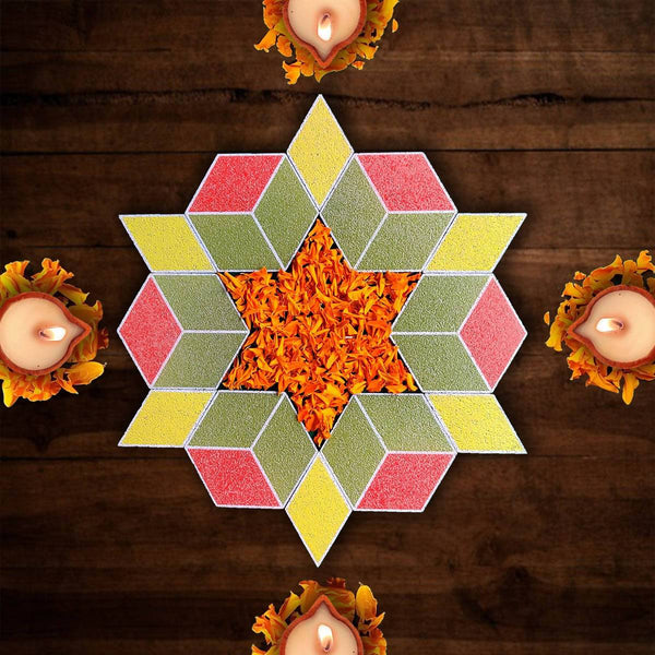 Rangoli Puzzle_The Hexagon (Pack of 12 pieces)