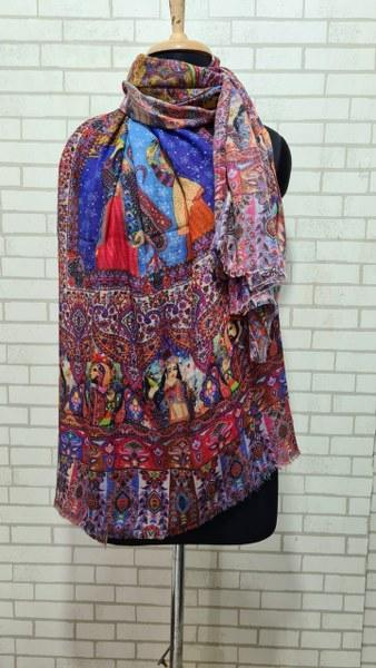 Woolen Shawl (Multi color digitel print)