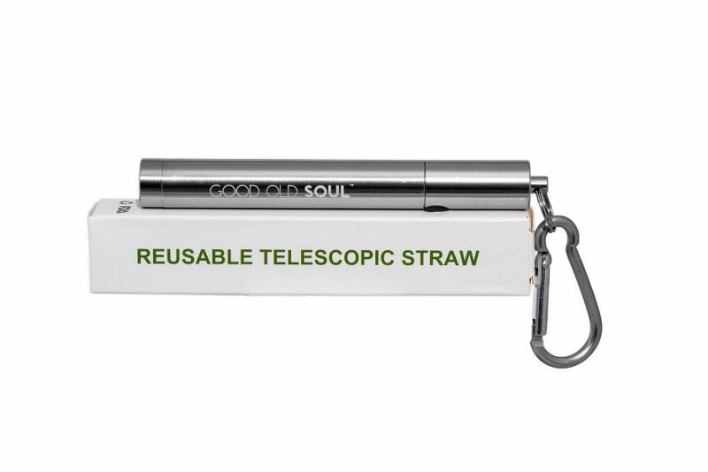 Telescopic Reusable Drinking Steel Straws - Lustre Steel