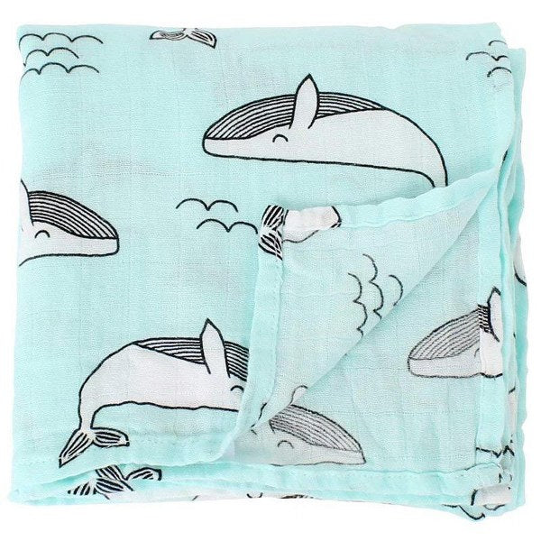 Melange swaddle - (The whale)