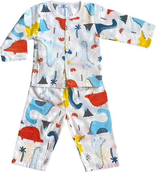 Cassie the Dino Muslin Play Suit