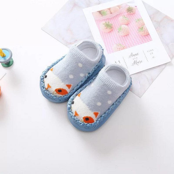 Organic Shoe Socks (Blue)