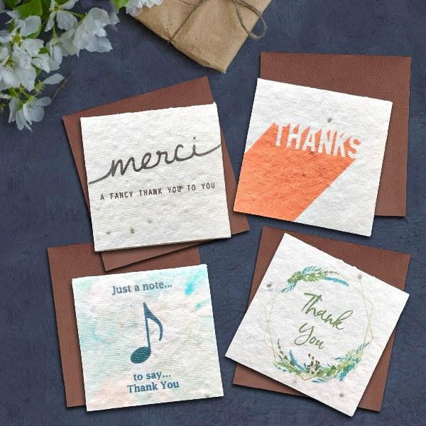 Plantable Thank You Cards (Pack of 4)