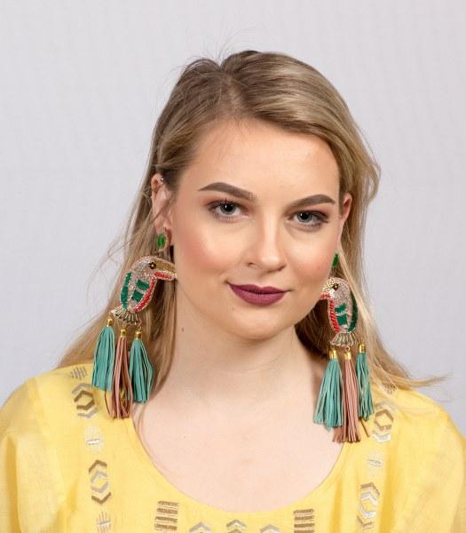 TROPICAL TOOKEN MINT EARRINGS