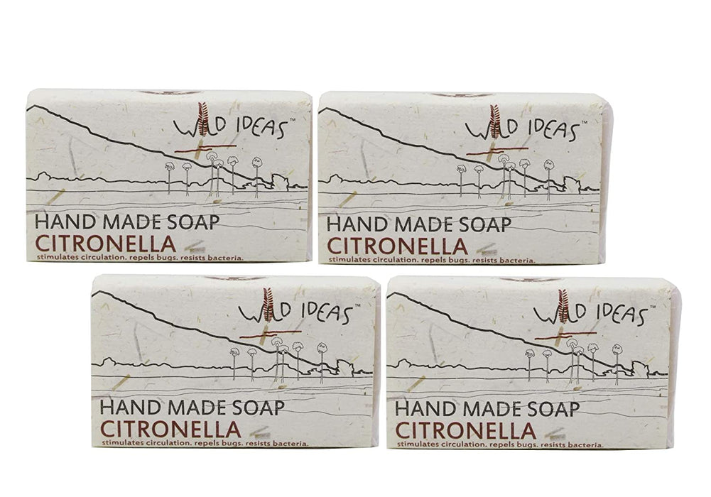 Wild Ideas Hand Made Soap - Citronella (Pack Of 4)