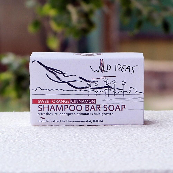 Wild Ideas Shampoo Bar Soap: Sweet Orange & Cinnamon (Pack of 2)