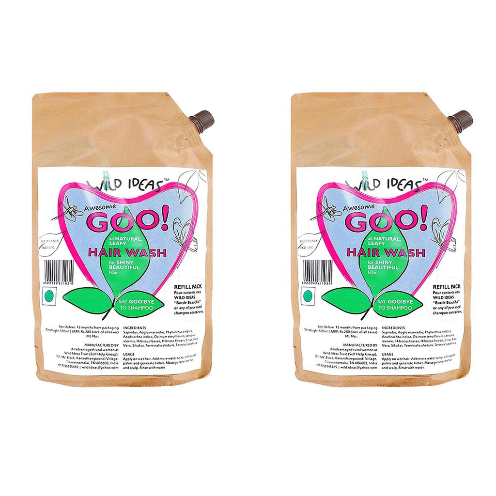 Wild Ideas Awesome goo! All Natural Leafy Hair Wash - Refill Pack (Pack of 2)