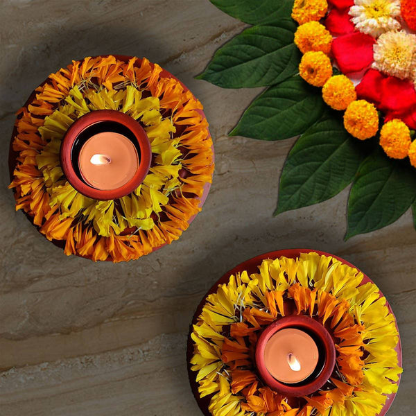 Dishman - Tealight Holders/Diyas (Pack of 2)