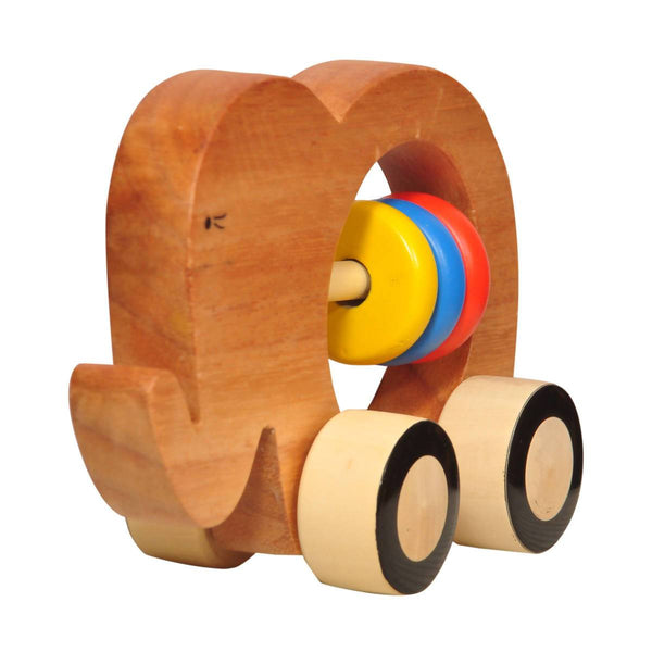 Wooden Elephant Push Toy (6 months +) - Touch. Feel. Explore
