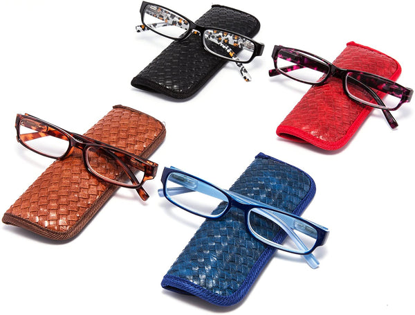 Eyeguard Readers 4 Pack of Reading Glasses with Beautiful Patterns for Ladies 2.50
