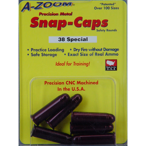Image of A-Zoom Snap Caps .38 Special Aluminum 6 Pack
