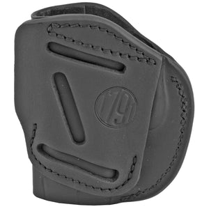 1791 Gunleather 4 Way WH-2 Multi-Fit IWB/OWB Concealment Holster for .380 ACP Semi Auto Models Right Hand Draw Leather Stealth Black