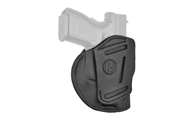 Image of 1791 Gunleather 4WH-4 4 Way Multi-Fit OWB-IWB Concealment Holster for Subcompact Slim Models Left Hand Draw Leather Stealth Black