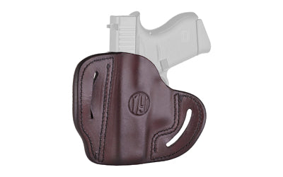 1791 Gunleather Open Top Multi-Fit OWB Belt Holster for Sub Compact Semi Auto Models Right Hand Draw Leather Signature Brown
