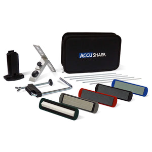 AccuSharp 5 Stone Precision Knife Sharpening Kit Universal Blade Sharpener Black