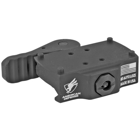 American Defense AD-22 Q.D. Rail Mount for Burris Fastfire Aluminum Black