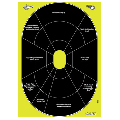 "Image of Allen EZ Aim Splash Non-Adhesive Paper 12"" x 17"" Oval Yellow-Black 8 Pack"