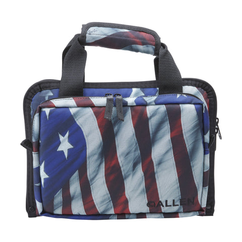 Image of Allen Victory Duplex Attaché Double Pistol Case US Flag