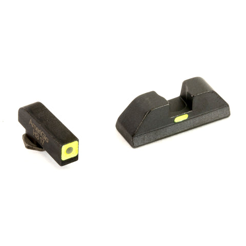 Image of AmeriGlo CAP Sights For GLOCK 43 Green Front Black Rear