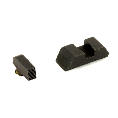 Image of AmeriGlo Defoor Sights For GLOCK 43 Stock Height Black Front Black Rear Steel