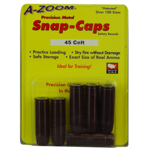 A-Zoom Snap Caps .45 Colt Six Pack