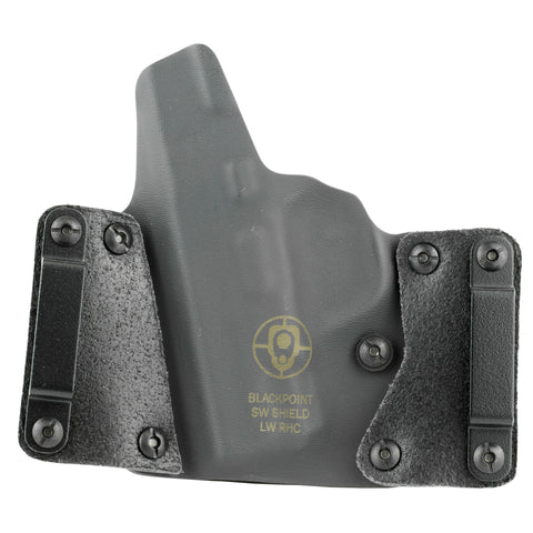 Image of Blk Pnt Lthr Wing S&w Shield Rh Blk