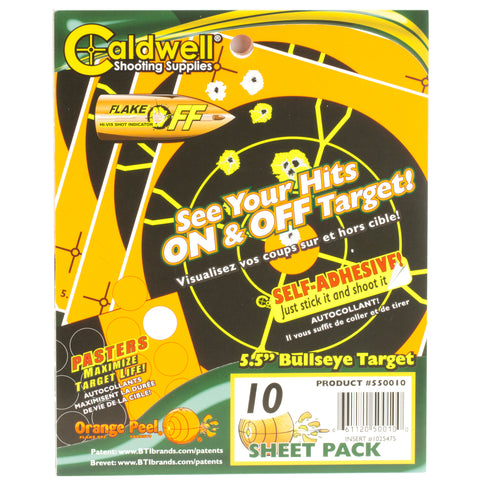 "Image of Caldwell Ornge Peel Bulls-eye 5.5""10"