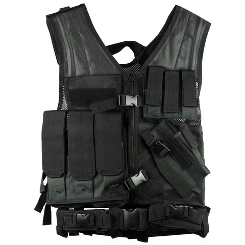 Ncstar Tactical Vest Med-2xl Blk